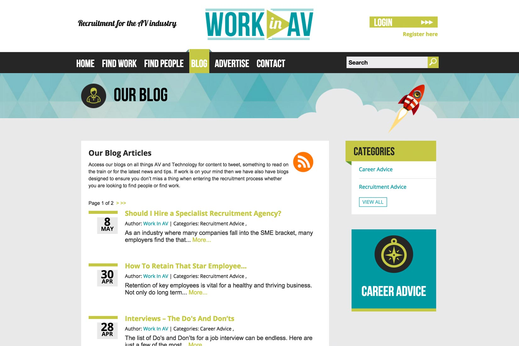 presto web design case study work in av website work in av case study