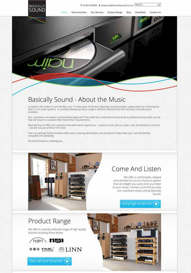Presto Launches All-New Website for Hi-Fi Retailer Basically Sound