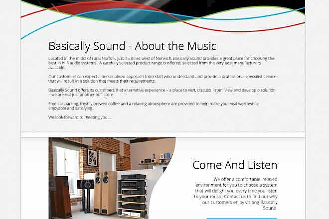 Presto Launches All-New Website for Hi-Fi Retailer Basically Sound - Preview Image