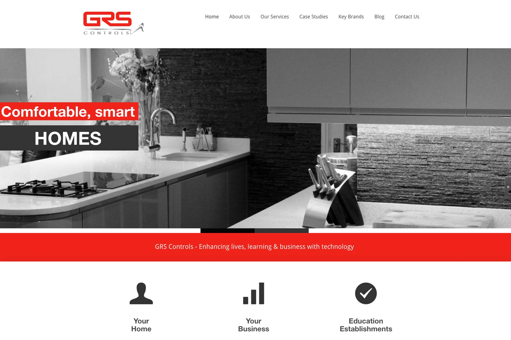 Image of GRS Controls Website