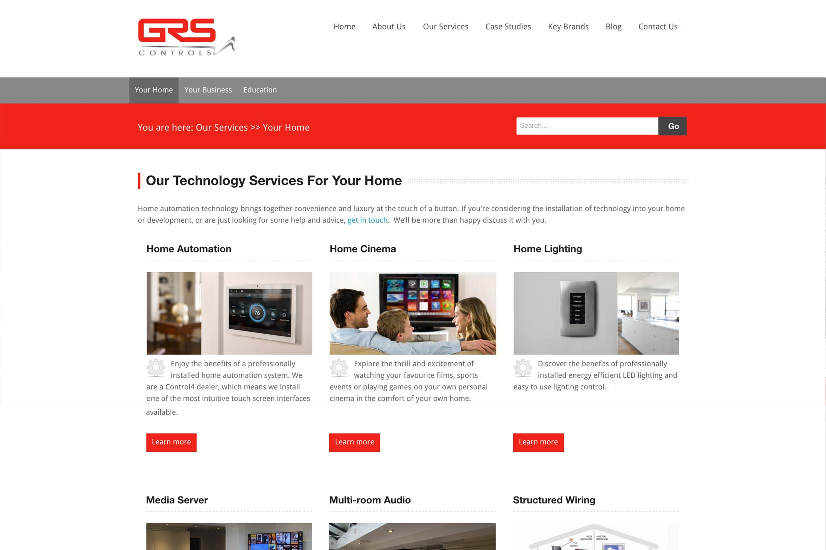 GRS Controls Technologies Page