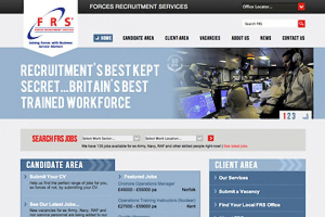 Web Design Case Study - Forces Recruitment Services, Designed and Built by Presto