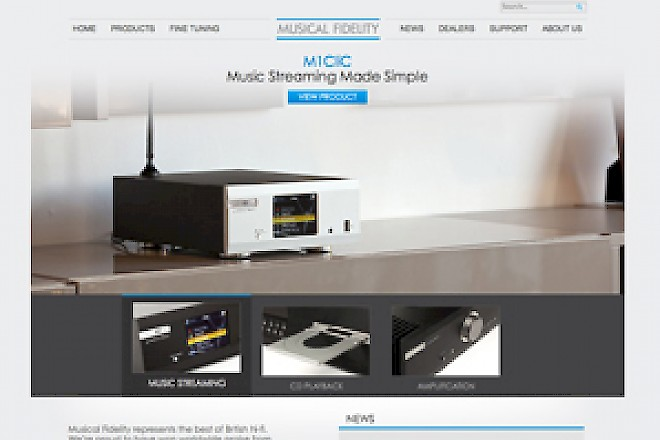 Presto delivers new website for Hi-Fi legends Musical Fidelity - Preview Image