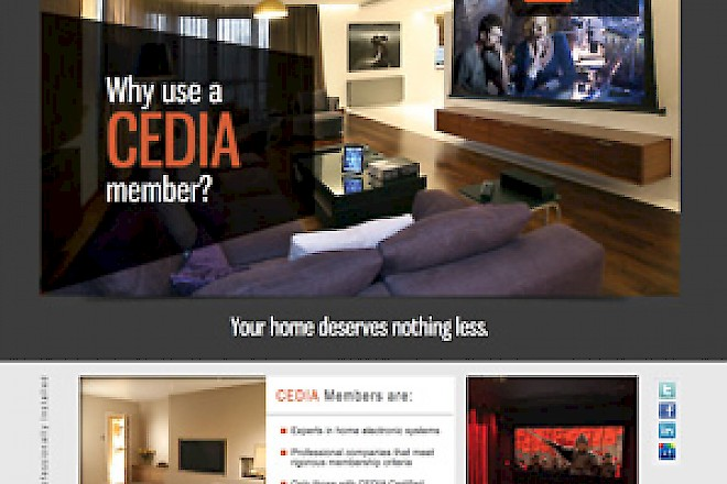 "New Client Site Launch – ""Why Use a CEDIA Member?"""