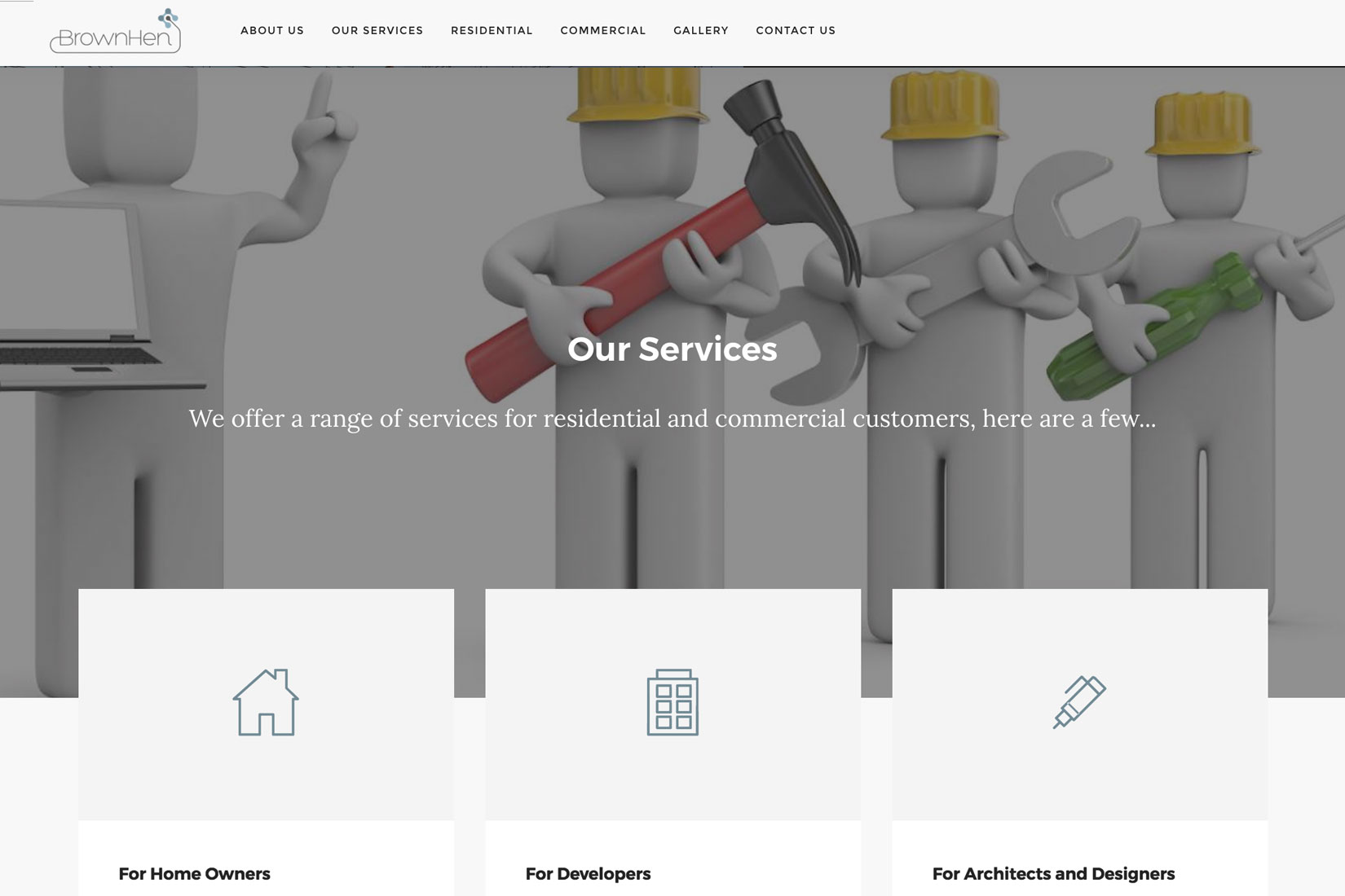 BrownHen Solutions Website Services page
