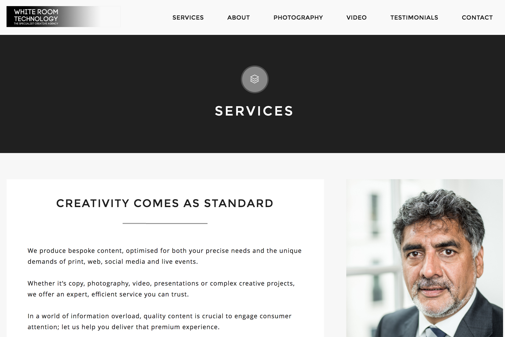 Whiteroom Technology Website by Presto Web Design - Services Page